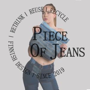 Kuvassa kuva Piece Of Jeans -tuotteista