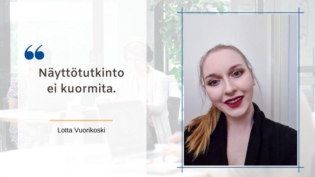 Lotta Vuorikoski.