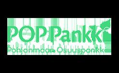POP Pankin logo, Pohjanmaan Osuuspankki.
