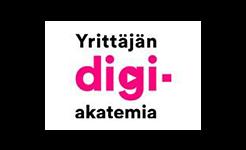 Yrittäjän digiakatemian logo.