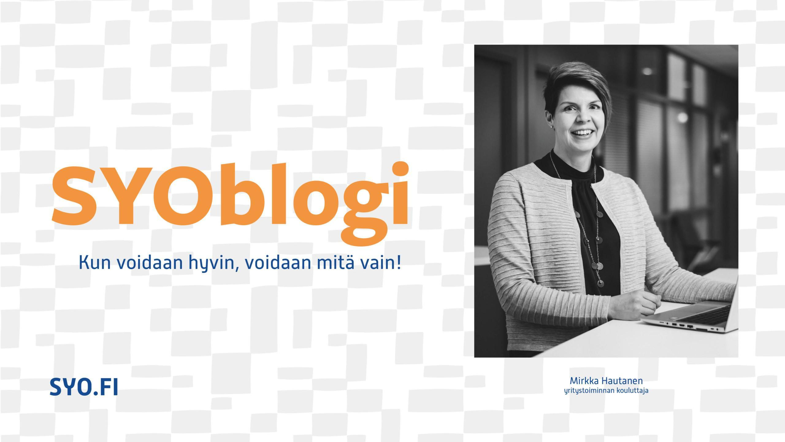 Mirkka Hautanen kirjoitti SYOblogissa työhyvinvoinnin merkityksestä.
