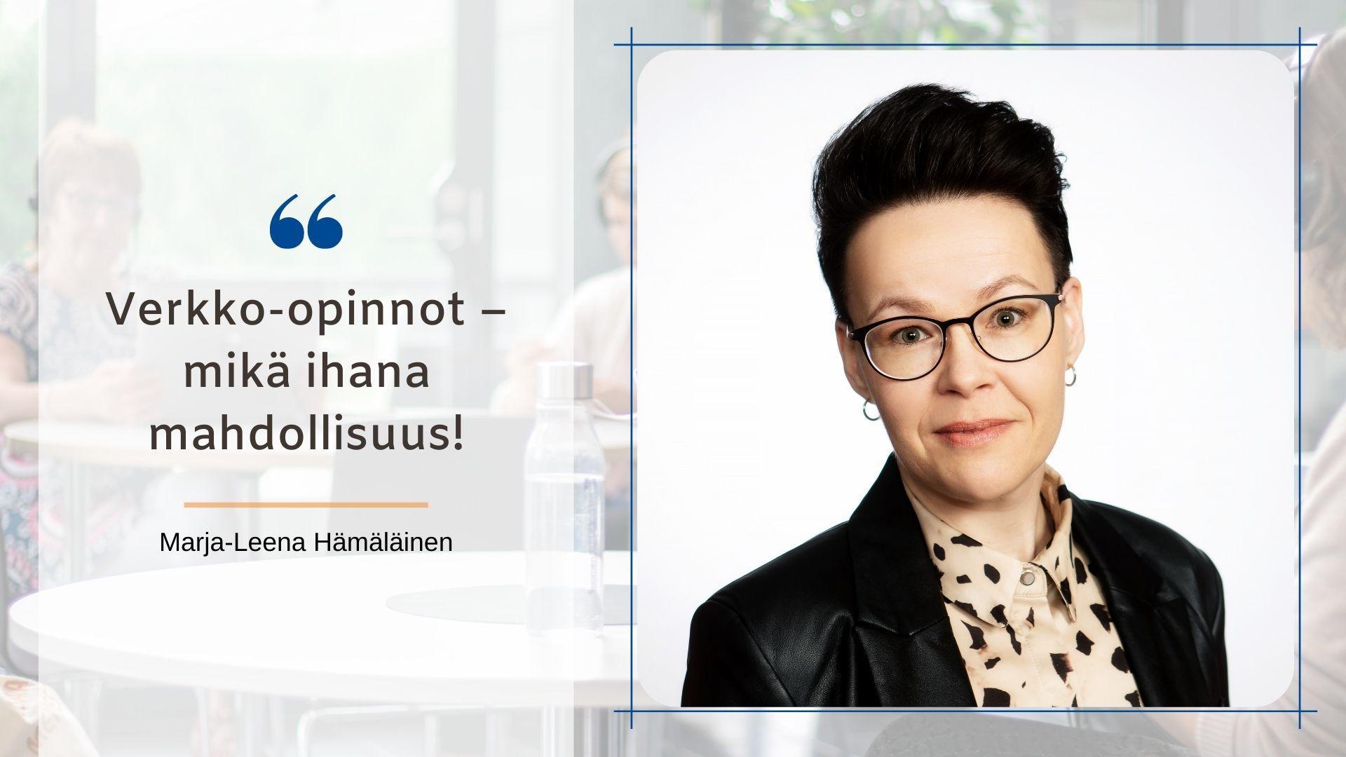 Marja-Leena Hämäläinen kirjoitti SYOblogissa opinnoistaan yritysneuvojakoulutuksessa