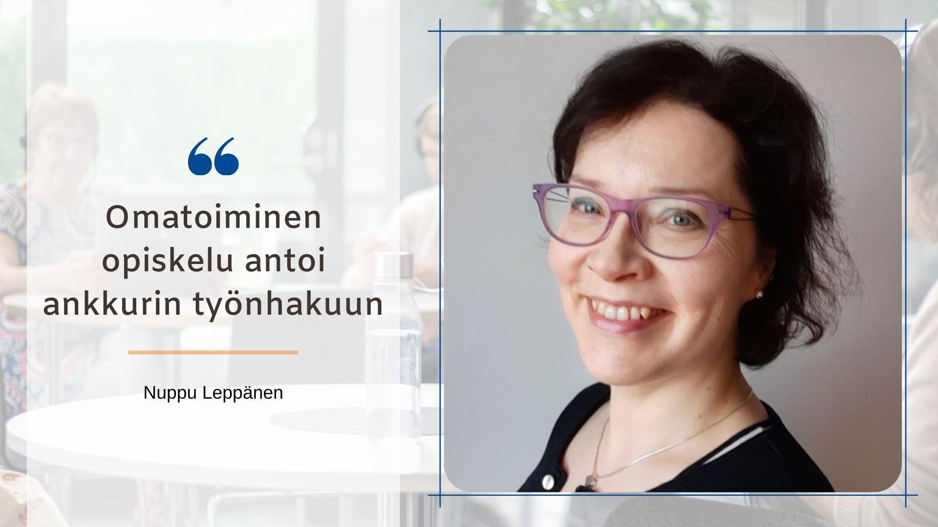 Nuppu Leppänen kirjoitti SYOblogissa, miksi hän lähti HR-asiantuntijan koulutukseen