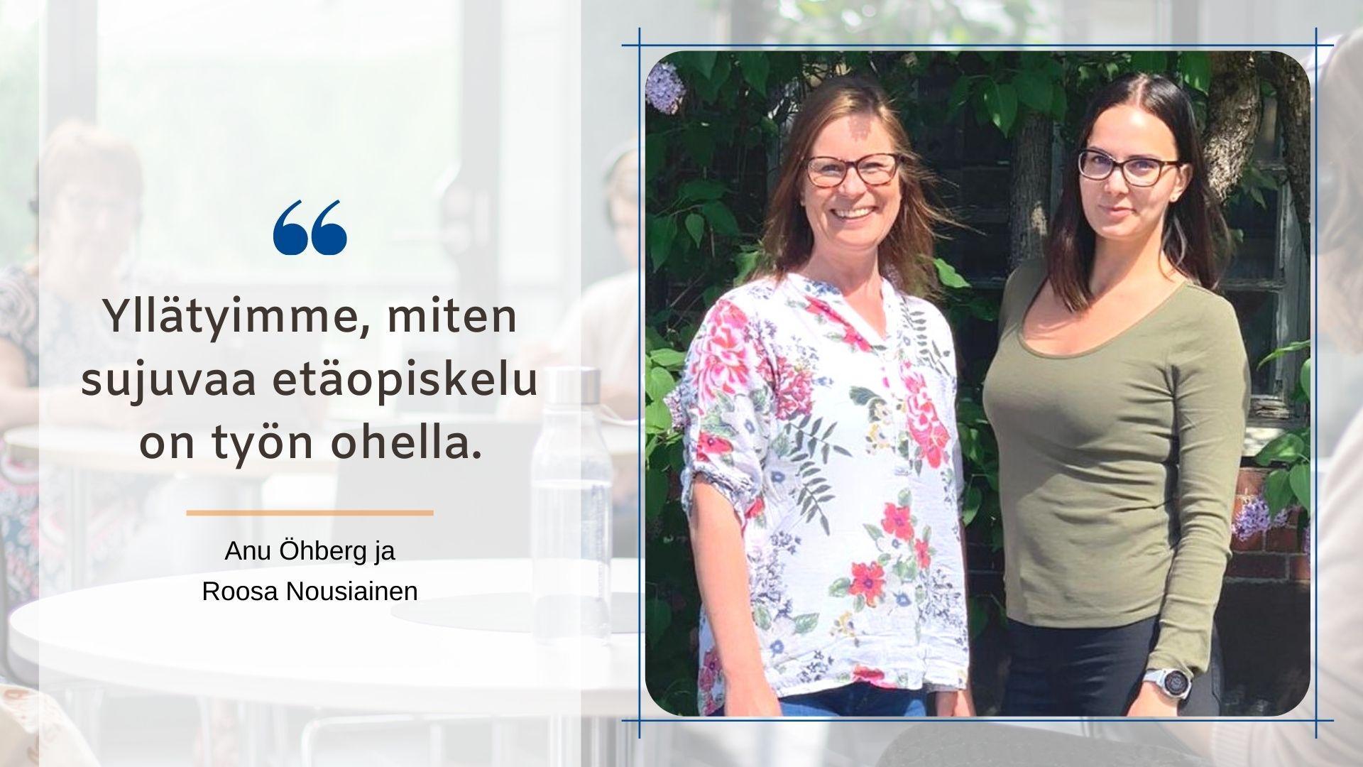 Anu Öhberg ja Roosa Nousiainen kirjoittivat SYOblogissa koulutuskokemuksistaan